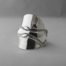 Stunning Handmade Heavy Antique Solid Sterling Silver Chunky Spoon Ring 1904
